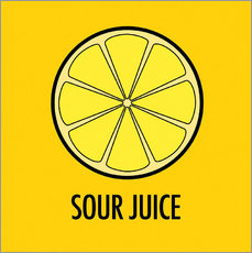 Vinilo para la pared Sour Juice