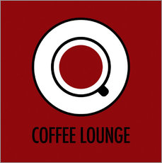 Cuadro de plexi-alu  Coffee lounge, red - JASMIN!