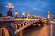 Cuadro de plexi-alu  Pont Alexandre III in Paris - Jan Christopher Becke