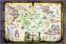 Vinilo para la pared  Dragons of the world - Dragon Chronicles