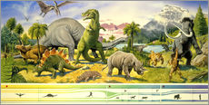 Vinilo para la pared  Land of the dinosaurs - Paul Simmons