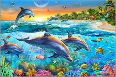 Vinilo para la pared  Dolphin bay - Adrian Chesterman