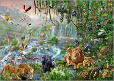 Cuadro de plexi-alu  Jungle Waterfall - Adrian Chesterman