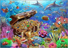 Vinilo para la pared  Undersea Treasure - Adrian Chesterman