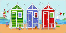 Vinilo para la pared  Colorful beach huts - Peter Adderley