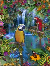 Vinilo para la pared  Bird Tropical Land - Alixandra Mullins