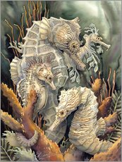 Vinilo para la pared  Seahorses, beyond imagination - Jody Bergsma