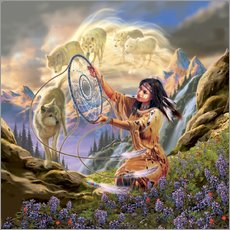 Cuadro de plexi-alu  Dream catcher - Robin Koni
