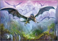 Vinilo para la pared  The Valley Of Dragons - Dragon Chronicles