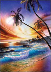 Vinilo para la pared Tropical beach
