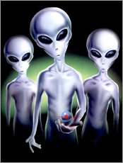 Vinilo para la pared  Alien trio - Area 51
