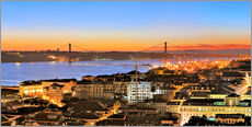 Cuadro de plexi-alu  Panorama of Lisbon Portugal - FineArt Panorama