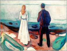 Cuadro de madera  Two people. The lonely - Edvard Munch