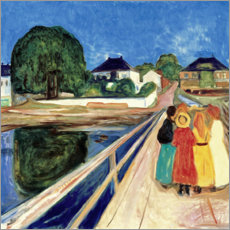 Cuadro de metacrilato  Girl on a Bridge - Edvard Munch