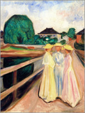 Póster  Girls on the pier - Edvard Munch