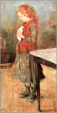 Lienzo  Red-haired girl with white rat - Edvard Munch