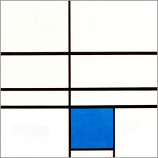 Vinilo para la pared Composition with Blue