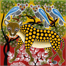 Cuadro de plexi-alu  Cheetah in the bush - Mzuguno