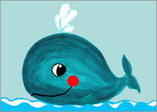 Cuadro de plexi-alu  Willfried, la ballena amiga - Little Miss Arty