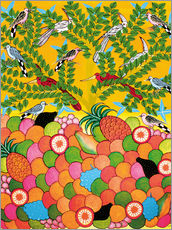 Vinilo para la pared Fruits and birds
