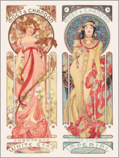 Vinilo para la pared  Moet & Chandon - Alfons Mucha