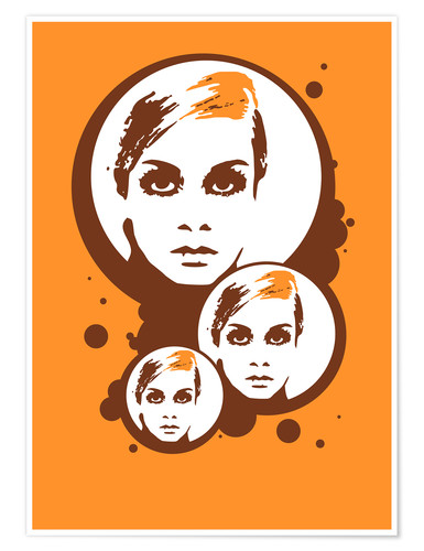 Póster Twiggy Mathmos Orange
