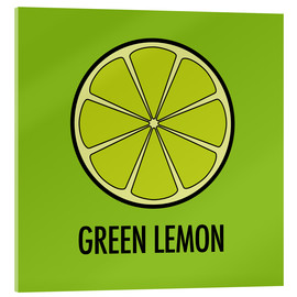 Cuadro de metacrilato  Green Lemon Juice - JASMIN!