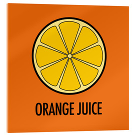 Cuadro de metacrilato  Orange Juice - JASMIN!
