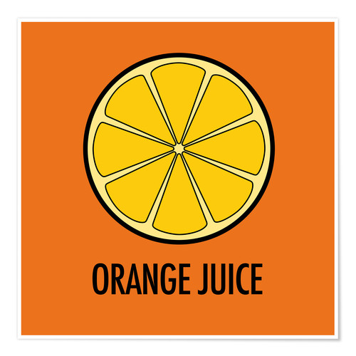 Póster Orange Juice