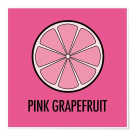 Póster Pink Grapefruit Juice