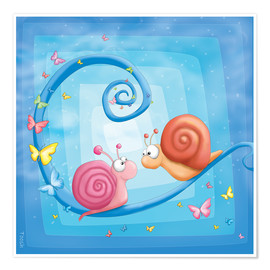 Póster blue snails