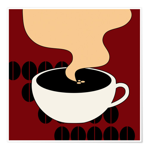 Póster Hot Coffee