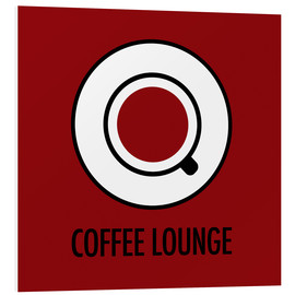 Cuadro de PVC  Coffee lounge, red - JASMIN!