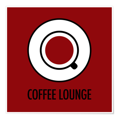 Póster Coffee Lounge, brown