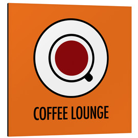 Aluminio-Dibond  Coffee Lounge, orange - JASMIN!