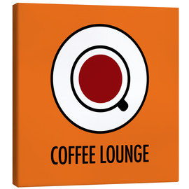 Lienzo  Coffee Lounge, orange - JASMIN!