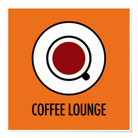 Póster Coffee Lounge, orange