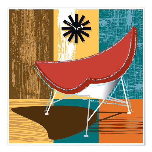Póster coconut chair