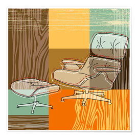 Póster lounge chair