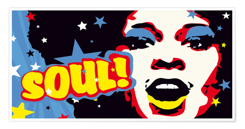 Póster Soul! for the funky world