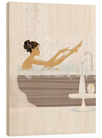 Cuadro de madera  shower flower babe - Mike Wall