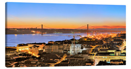 Lienzo  Panorama of Lisbon Portugal - FineArt Panorama