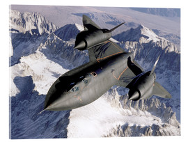 Cuadro de metacrilato  SR-71B Blackbird in Flight - Stocktrek Images
