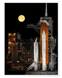 Póster Space shuttle Discovery
