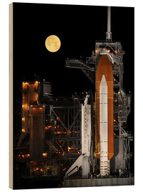 Cuadro de madera  Space shuttle Discovery