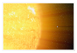 Póster  The relative sizes of the Sun and the Earth