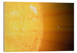 Cuadro de madera  The relative sizes of the Sun and the Earth - Stocktrek Images
