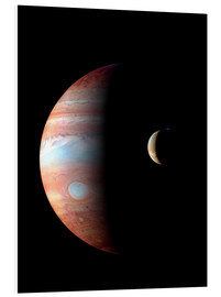 Forex  Jupiter and its volcanic moon Lo - Stocktrek Images