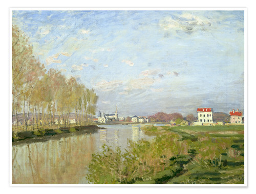 Póster The Seine at Argenteuil