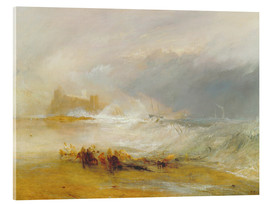 Cuadro de metacrilato  Rescate en la costa de Northumberland - Joseph Mallord William Turner